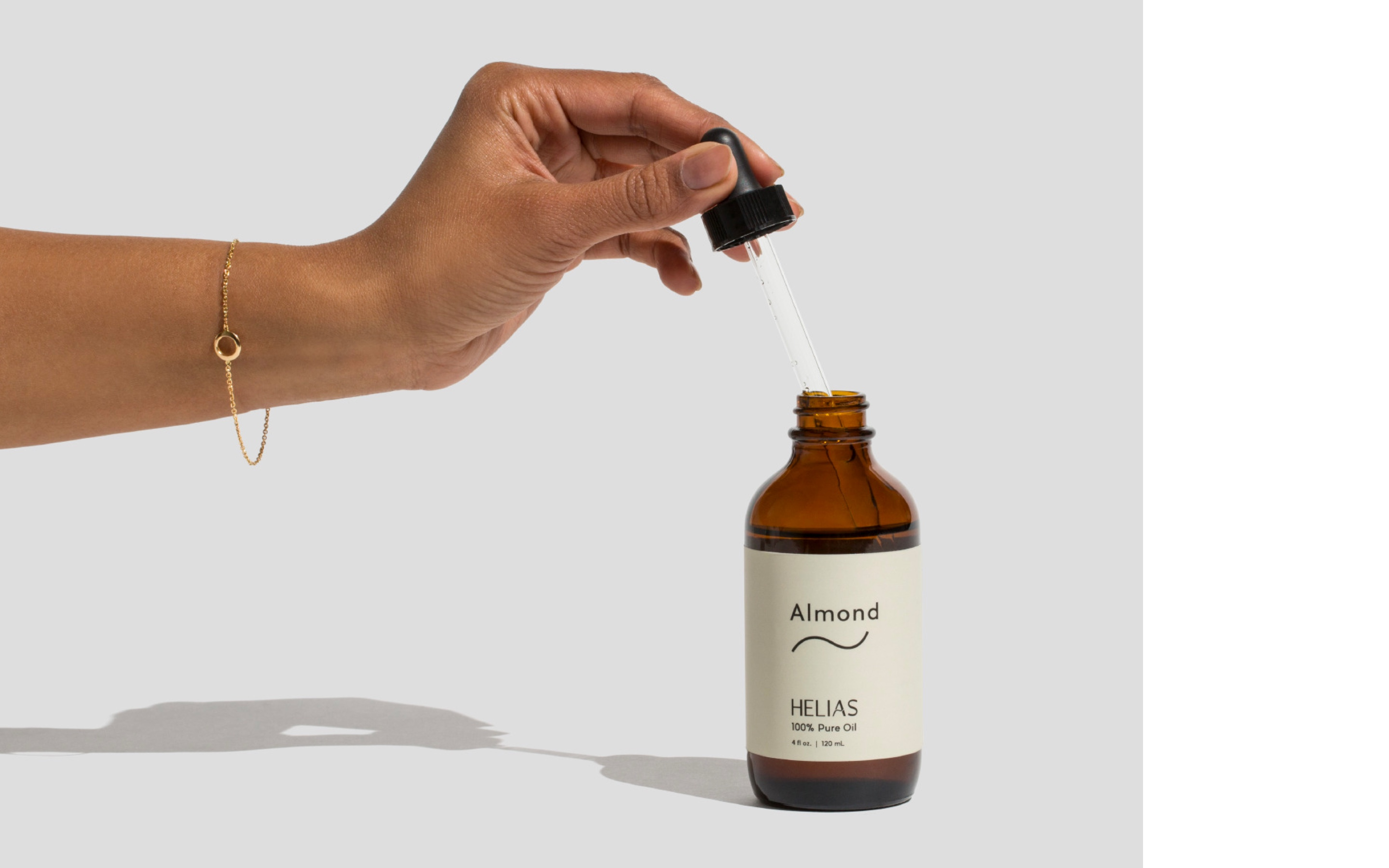 Hand with flask